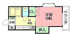 神奈川県平塚市南原2丁目の賃貸アパートの間取り