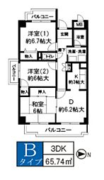 サウスファーム[4階]の間取り
