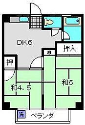 トキワダイマンション[201号室]の間取り