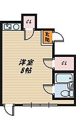 大阪府大阪市城東区今福南2丁目の賃貸マンションの間取り