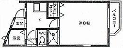 メゾンド松籟[202号室]の間取り