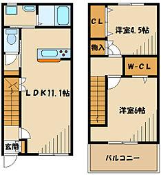 仮)本町田メゾン 1階2LDKの間取り