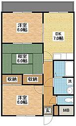 ルネス・トウワ[5階]の間取り