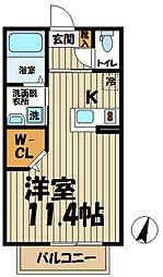 アイコーポ鎌倉台II[103号室]の間取り
