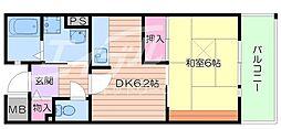 大阪府池田市五月丘2丁目の賃貸マンションの間取り