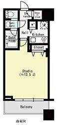 コンシェリア西新宿タワーズウエスト 8階1Kの間取り