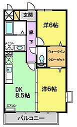 ピュアガーデン VI[301号室]の間取り