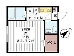 クラックス鎌ヶ谷[2階]の間取り