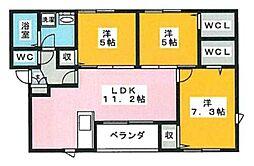 皿山3丁目アパート[301号室]の間取り