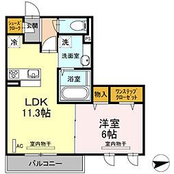 仮)D−room宿河原[302号室]の間取り