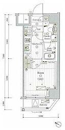 横浜市営地下鉄ブルーライン 伊勢佐木長者町駅 徒歩5分の賃貸マンション 3階1Kの間取り