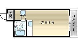 シティハイム新大阪[4階]の間取り