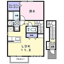 神奈川県海老名市上今泉1丁目の賃貸アパートの間取り