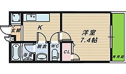 大阪府和泉市府中町5丁目の賃貸アパートの間取り