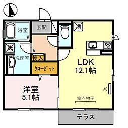仮称)D-room法善寺 A棟[1階]の間取り