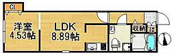 Casa di TAISHOKAN ovest[303号室]の間取り