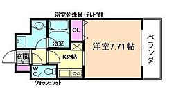 Osaka Metro谷町線 都島駅 徒歩3分の賃貸マンション 7階1Kの間取り