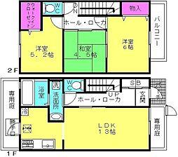 [テラスハウス] 兵庫県加古川市加古川町備後 の賃貸【/】の間取り