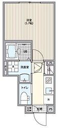ミハス経堂宮坂 1階1Kの間取り