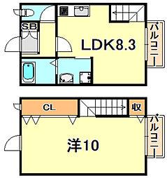 山陽電鉄本線 舞子公園駅 徒歩23分の賃貸マンション 1階1LDKの間取り