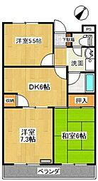 愛知県豊田市大林町15丁目の賃貸マンションの間取り