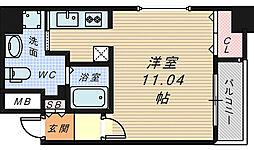 大阪府堺市堺区住吉橋町2丁の賃貸マンションの間取り