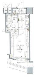 ファーストリアルタワー新宿(旧 アクス・ザ・タワー新宿) 20階1Kの間取り