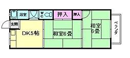 南桜塚コーポ[2階]の間取り