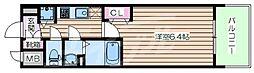 JR大阪環状線 京橋駅 徒歩1分の賃貸マンション 8階1Kの間取り