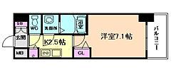 プレサンス大阪福島シエル[6階]の間取り