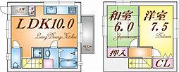 [テラスハウス] 兵庫県神戸市垂水区泉が丘2丁目 の賃貸【兵庫県 / 神戸市垂水区】の間取り