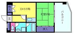 S.I.ハイツ芦屋[4階]の間取り
