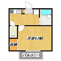 JR総武線 小岩駅 徒歩9分の賃貸アパート 1階1Kの間取り