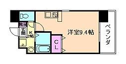 Osaka Metro谷町線 野江内代駅 徒歩6分の賃貸マンション 6階ワンルームの間取り