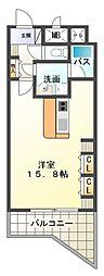ハートヒルズ井田[6階]の間取り