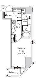 クレセント虎ノ門新橋 8階1Kの間取り