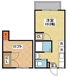 シャル夢館 坂本II[2階]の間取り