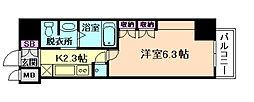 レジュールアッシュPREMIUM TWINーI[8階]の間取り