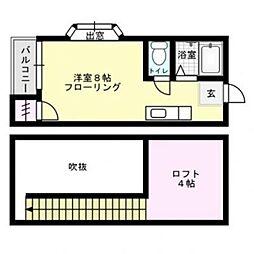 福岡県福岡市中央区平尾3丁目の賃貸アパートの間取り