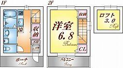 HCフラッツ須磨浦 2階1SKの間取り