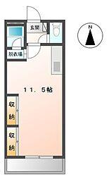 愛知県蒲郡市中央本町の賃貸アパートの間取り