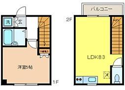 ロータスハウス 1階1LDKの間取り