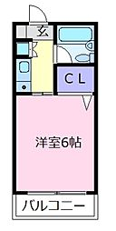 ラ・テール西田弐番館[4階]の間取り