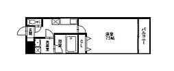 クリスタルビル[4階]の間取り