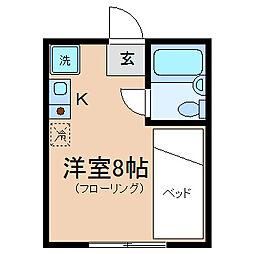 神奈川県横浜市神奈川区羽沢町の賃貸アパートの間取り