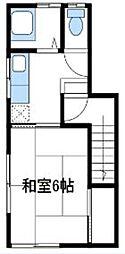 神奈川県海老名市国分北2の賃貸アパートの間取り