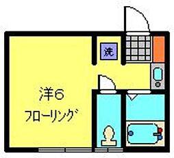 サザン宝蔵院A[1階]の間取り