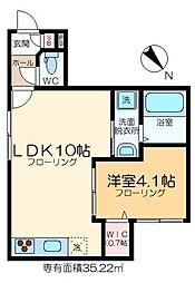(仮称)東新小岩6丁目メゾン 1階1LDKの間取り