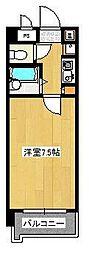 パンルネックスクリスタル箱崎[505号室]の間取り