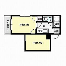 福岡県福岡市早良区飯倉3丁目の賃貸マンションの間取り
